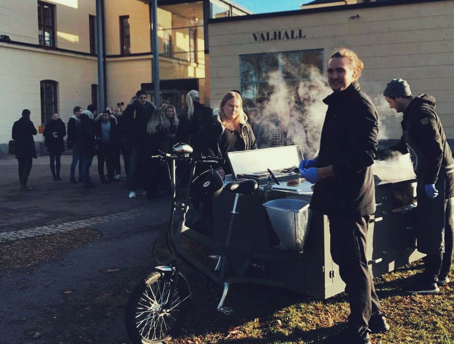 Burger Bike served hungry students in Gävle